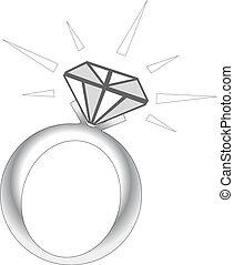 szikra, karika, gyémánt