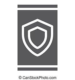 szilárd, háttér., aláír, motívum, eszköz, oltalom, ikon, vektor, biztonság, grafika, biztonság, adatok, fehér, glyph
