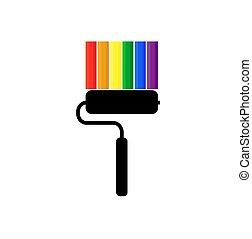 szivárvány, buzi, festék, lobogó, lgbt, lobogó, fekete, büszkeség, vagy, hajcsavaró