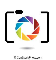 szivárvány, fotográfia, színezett, jel