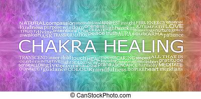 szivárvány, gyógyulás, chakra, transzparens, társult, szavak