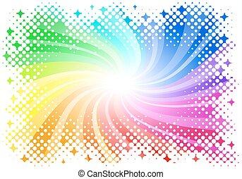 szivárvány, háttér, színezett, elvont