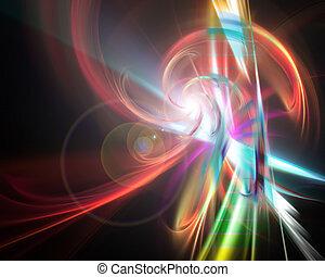 szivárvány, izzó, fractal