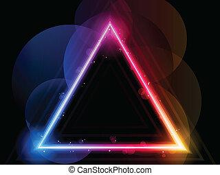 szivárvány, kavarog, határ, háromszög, pattog