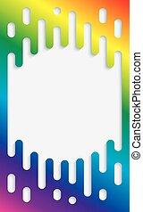szivárvány, színes, copyspace, átmeneti, halftone, colors., háttér