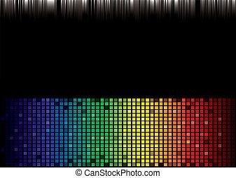 szivárvány, színkép, háttér