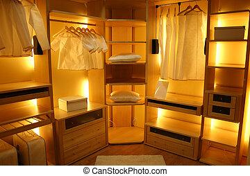 szoba, öltözet