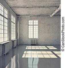 szoba, üres