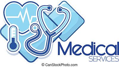 szolgáltatás, orvosi, tervezés, aláír