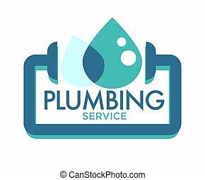 szolgáltatás, rögzítő, elszigetelt, ikon, leakage, csővezeték, csőhálózat házi, megjavítás
