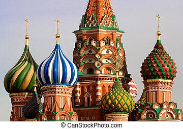 szt., oroszország, moszkva, basil's, cathedral.