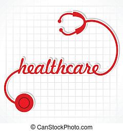 sztetoszkóp, csinál, szó, healthcare
