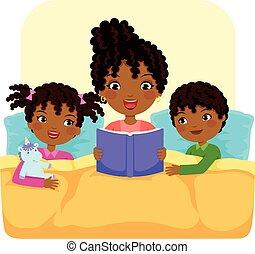 sztori, felolvasás, black család