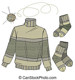 szvetter, gyapjú, zokni
