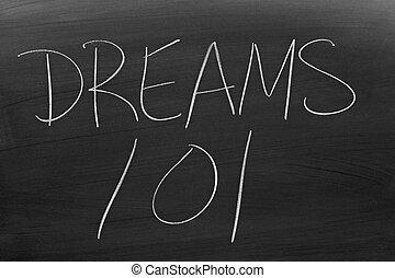 tábla, 101, álmodik