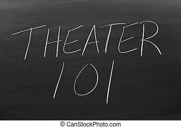 tábla, 101, színház