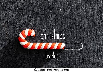 tábla, berakodás, karácsony