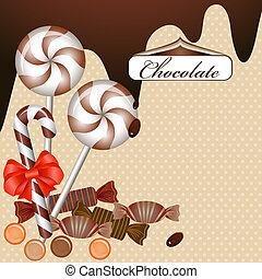 tábla csoki, háttér