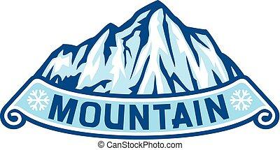 táj, hegy, címke