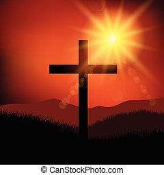 táj, péntek, húsvét, kereszt, 2602