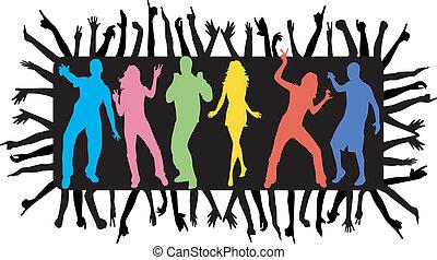 tánc, young emberek