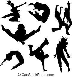 táncol, emberek