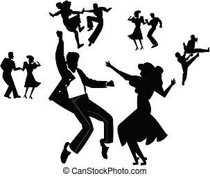táncol, fél