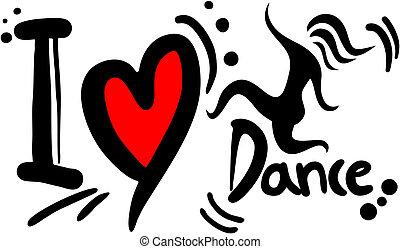 táncol, szeret
