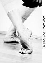 táncos, lábak, kortárs