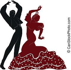 táncosok, flamenco