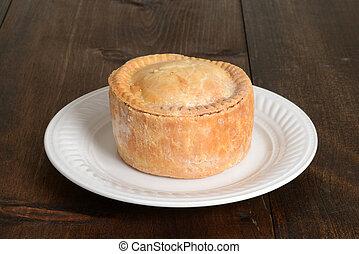tányér, disznóhús pite