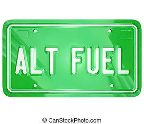 tányér, engedély, erő, energia, zöld, fűtőanyag, alt, választás