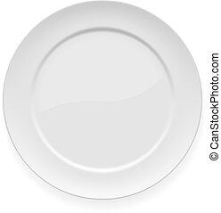 tányér, fehér, vacsora, tiszta