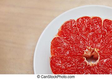 tányér, grapefruit
