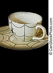 tányér, kávécserje letesz, shop., kerámiai, pohár