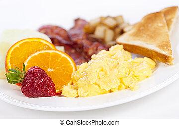tányér, reggeli
