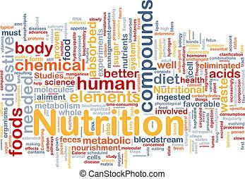 táplálás, fogalom, egészség, háttér