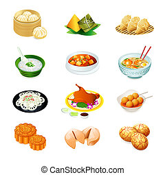 táplálék kínai, ikonok