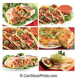 táplálék mexican, kollázs