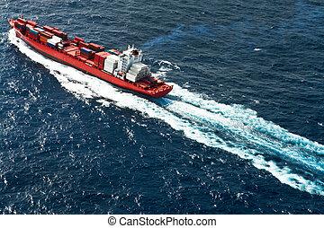 tároló hajó, felülnézet