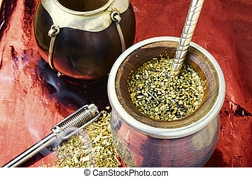 társ, tea, yerba