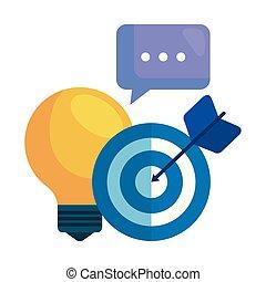 társadalmi, fény, marketing, ikonok, gumó, média