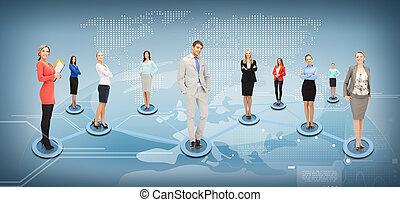 társadalmi, hálózat, ügy, vagy