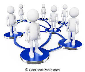 társadalmi, hálózat, emberek., 3, fehér