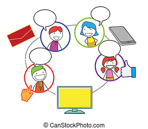 társadalmi, hálózat, emberek