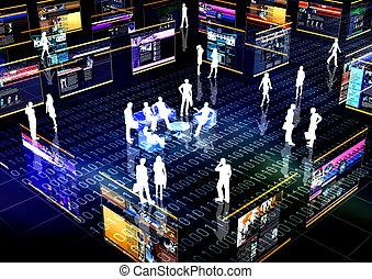 társadalmi, hálózat, közösség, online