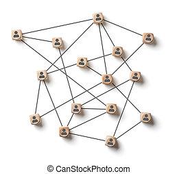 társadalmi, hálózat, white háttér, elvont
