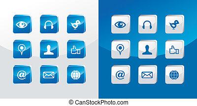 társadalmi, média, állhatatos, ikonok