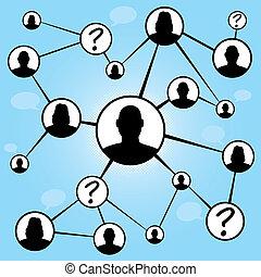 társadalmi, média, barátok, diagram