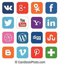 társadalmi, média, ikonok